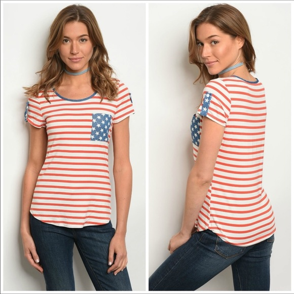 yoyo5 Tops - Stars & Stripes Pocket Tee